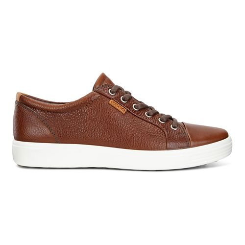Mens Ecco Soft 7 Sneaker Casual Shoe - Whisky 42