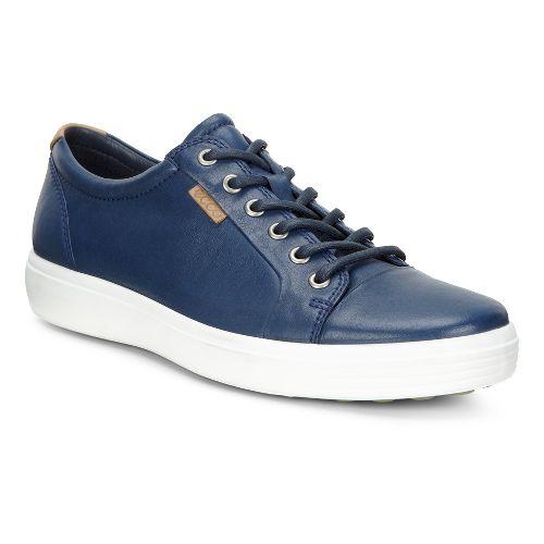 Mens Ecco Soft 7 Sneaker Casual Shoe - True Navy 40