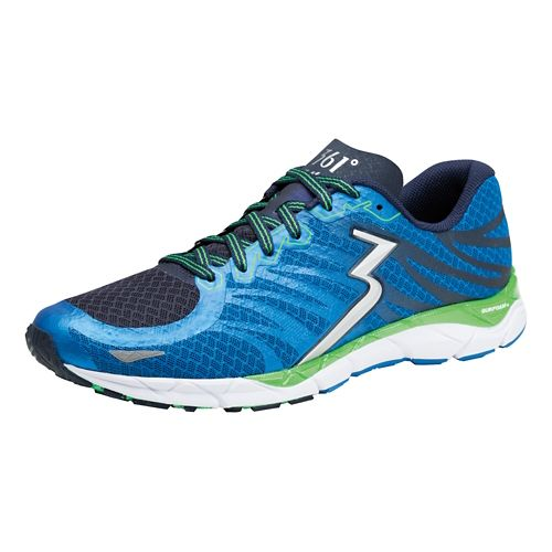 Mens 361 Degrees KgM2 2 Running Shoe - Sapphire/Green Apple 9.5