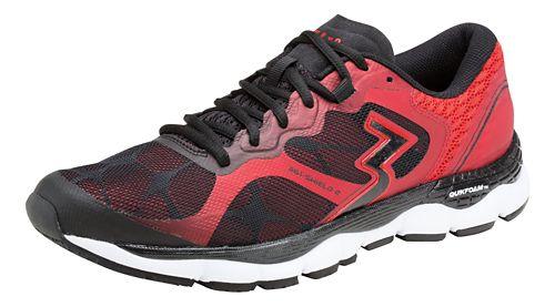 Mens 361 Degrees Shield 2 Running Shoe - Black/Risk Red 7
