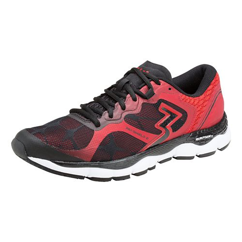 Mens 361 Degrees Shield 2 Running Shoe - Black/Risk Red 7.5