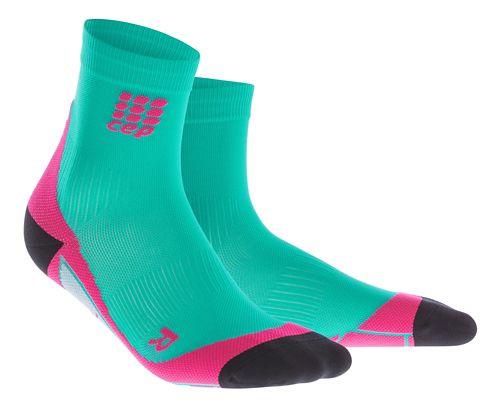 Womens CEP Dynamic+ Short Socks Injury Recovery - Lagoon/Pink S