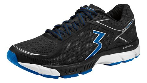 Mens 361 Degrees Spire 2 Running Shoe - Black/Nautical Blue 10.5