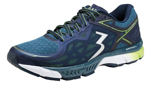 Mens 361 Degrees Spire 2 Running Shoe - Black/Nautical Blue 9.5