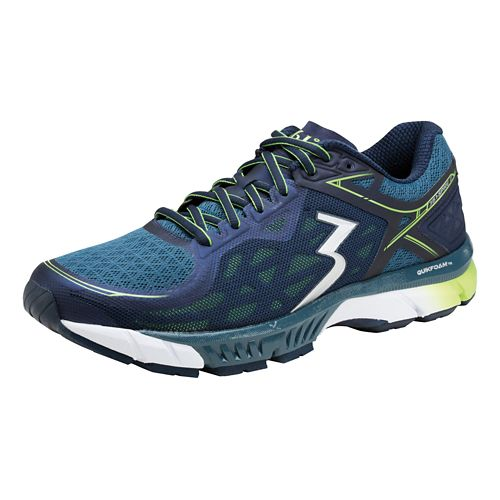 Mens 361 Degrees Spire 2 Running Shoe - Black/Nautical Blue 11.5
