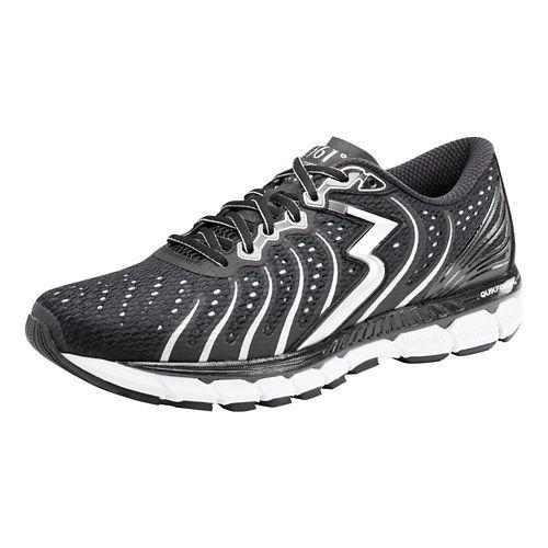 Mens 361 Degrees Stratomic Running Shoe - Black/Silver 14