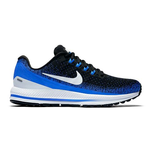 Mens Nike Air Zoom Vomero 13 Running Shoe - Black/Blue 15