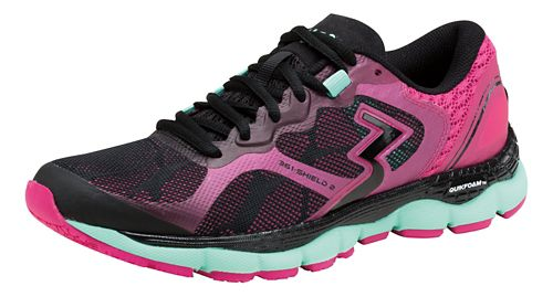 Womens 361 Degrees Shield 2 Running Shoe - Black/Cabaret 10.5
