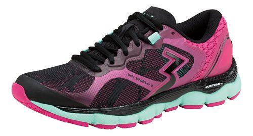 Womens 361 Degrees Shield 2 Running Shoe - Black/Cabaret 7.5
