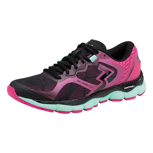 Womens 361 Degrees Shield 2 Running Shoe - Black/Cabaret 10