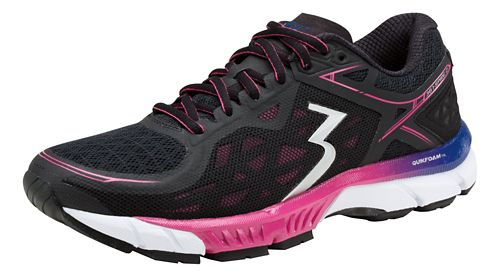 Womens 361 Degrees Spire 2 Running Shoe - Black/Magenta 7.5