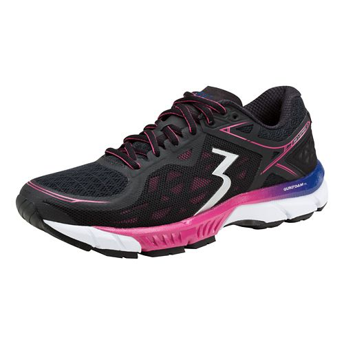 Womens 361 Degrees Spire 2 Running Shoe - Black/Magenta 8.5