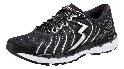 Womens 361 Degrees Stratomic Running Shoe - Black/Silver 11.5