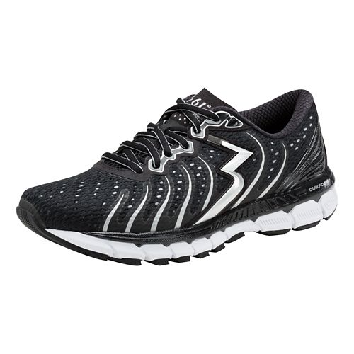 Womens 361 Degrees Stratomic Running Shoe - Black/Silver 10