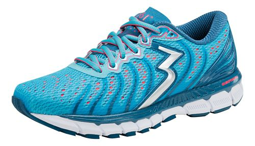 Womens 361 Degrees Stratomic Running Shoe - Aqua Blue/Diva Pink 10