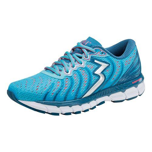 Womens 361 Degrees Stratomic Running Shoe - Aqua Blue/Diva Pink 11.5