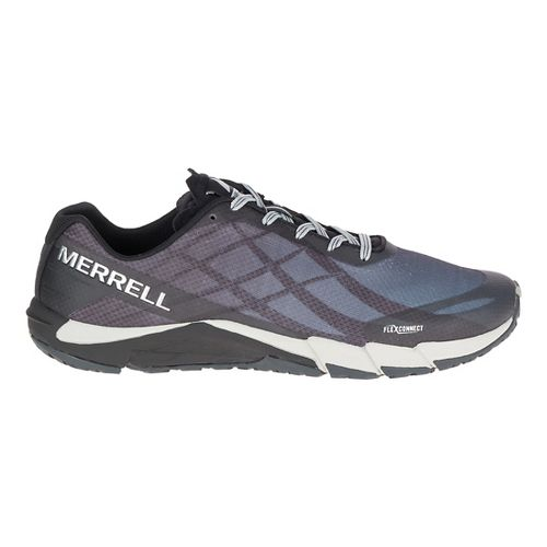 Mens Merrell Bare Access Flex Running Shoe - Black/Silver 9.5