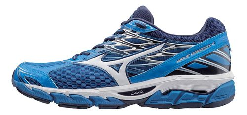 Mens Mizuno Wave Paradox 4 Running Shoe - Blue/White 9.5