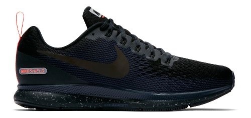 Mens Nike Air Zoom Pegasus 34 Shield Running Shoe - Black/Navy 11