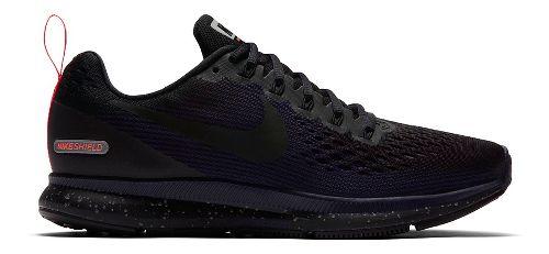 Womens Nike Air Zoom Pegasus 34 Shield Running Shoe - Black/Navy 7.5