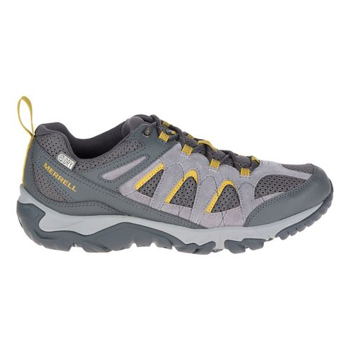 Mens Merrell Outmost Vent Waterproof Hiking Shoe - Frost Grey 10.5