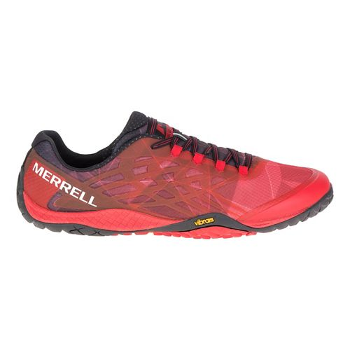 Mens Merrell Trail Glove 4 Trail Running Shoe - Molten Lava 14