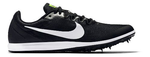 Mens Nike Zoom Rival D 10 Track and Field Shoe - Black/White 9