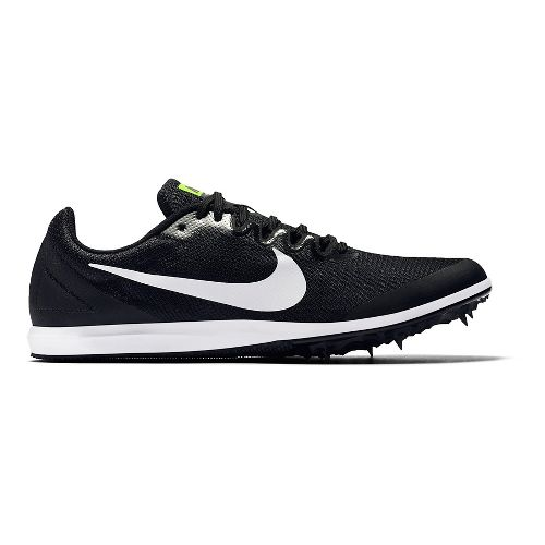 Mens Nike Zoom Rival D 10 Track and Field Shoe - Black/White 6