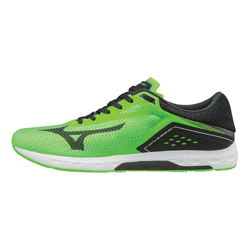 Mens Mizuno Wave Sonic Racing Shoe - Neon Green/Black 9