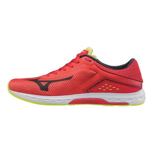 Mens Mizuno Wave Sonic Racing Shoe - Red/Black 10.5
