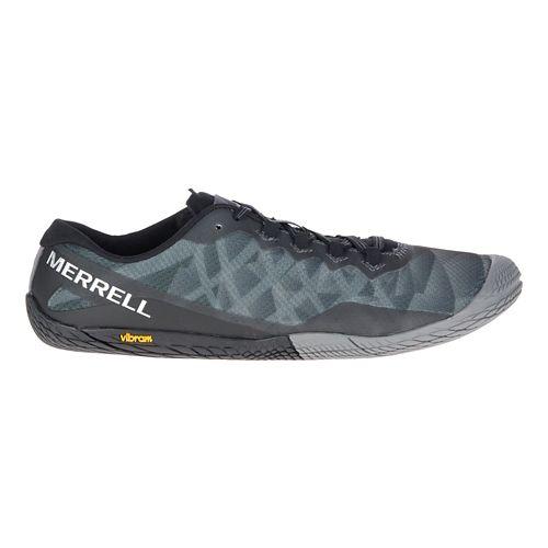 Mens Merrell Vapor Glove 3 Trail Running Shoe - Black/Silver 10