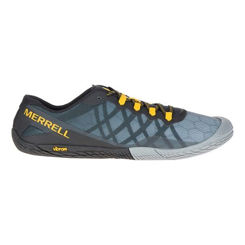 Mens Merrell Vapor Glove 3 Trail Running Shoe - Dark Grey 7.5