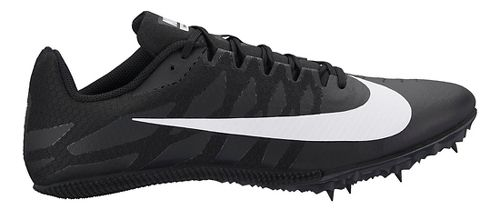 Mens Nike Zoom Rival S 9 Track and Field Shoe - Black/White 12