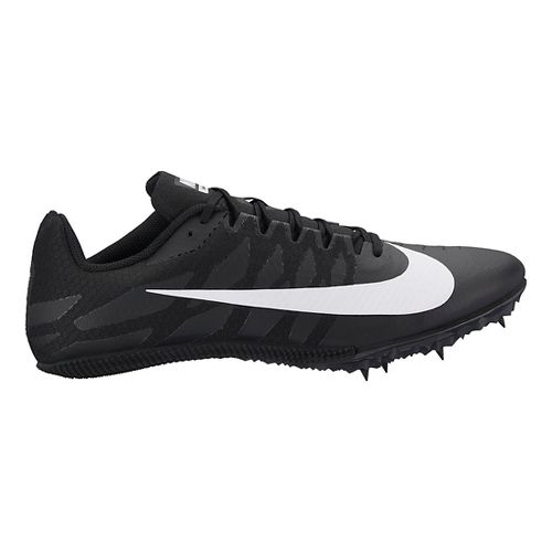 Mens Nike Zoom Rival S 9 Track and Field Shoe - Black/White 4.5