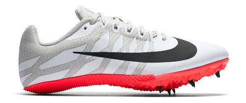 Womens Nike Zoom Rival S 9 Track and Field Shoe - White/Red 8.5