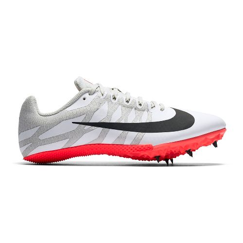 Womens Nike Zoom Rival S 9 Track and Field Shoe - White/Red 12