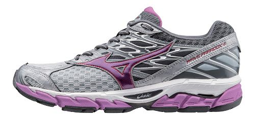 Womens Mizuno Wave Paradox 4 Running Shoe - Light Grey/Violet 10