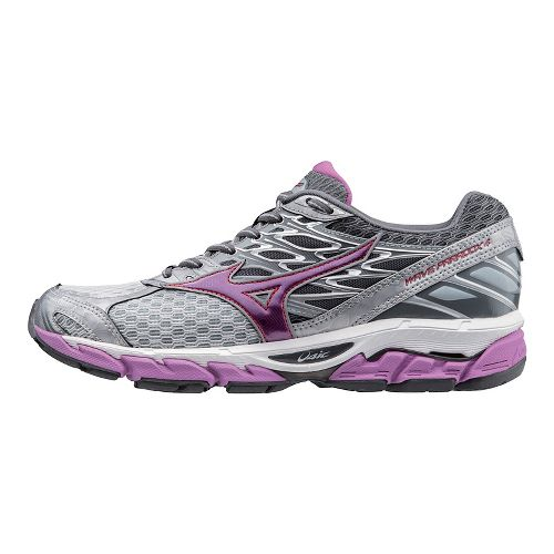 Womens Mizuno Wave Paradox 4 Running Shoe - Light Grey/Violet 6.5