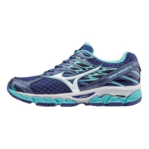 Womens Mizuno Wave Paradox 4 Running Shoe - Blue/White 7.5