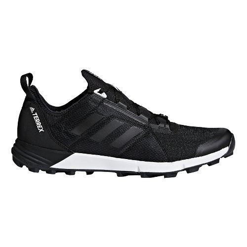 Mens adidas Terrex Agravic Speed Trail Running Shoe - Black/Black 12