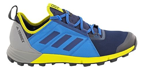 Mens adidas Terrex Agravic Speed Trail Running Shoe - Blue/Yellow 10.5