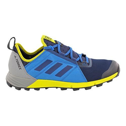 Mens adidas Terrex Agravic Speed Trail Running Shoe - Blue/Yellow 10