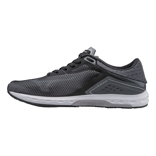 Womens Mizuno Wave Sonic Racing Shoe - Black/Grey 7.5