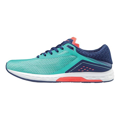 Womens Mizuno Wave Sonic Racing Shoe - Turquoise 8.5