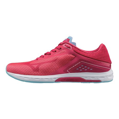 Womens Mizuno Wave Sonic Racing Shoe - Pink/Blue 9.5