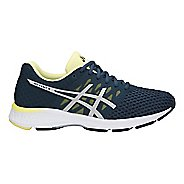 Womens ASICS GEL-Exalt 4 Running Shoe - Blue/Silver/Lime 7.5