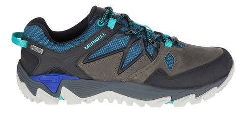 Womens Merrell All Out Blaze 2 Hiking Shoe - Pewter/Blue 7.5