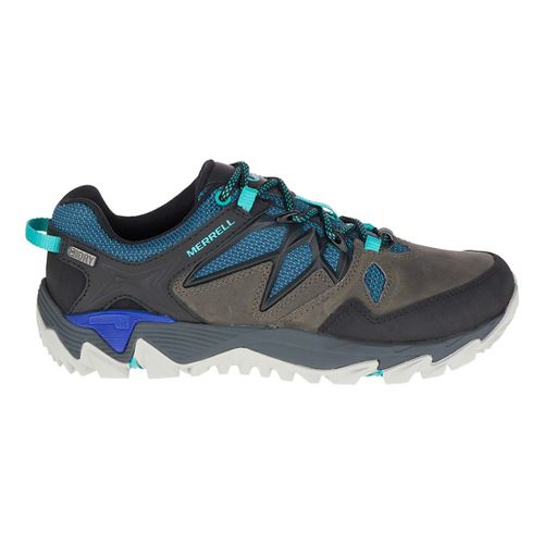 Womens Merrell All Out Blaze 2 Hiking Shoe - Pewter/Blue 6.5