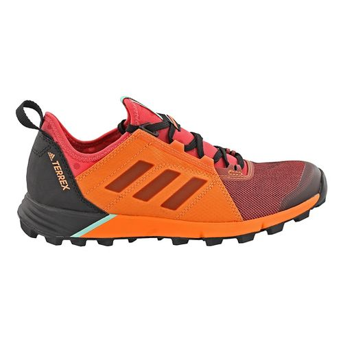 Womens adidas Terrex Agravic Speed Trail Running Shoe - Black/Orange 5.5