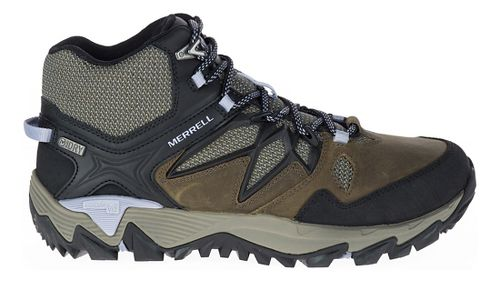 Womens Merrell All Out Blaze 2 Mid Waterproof Hiking Shoe - Dark Olive 7.5